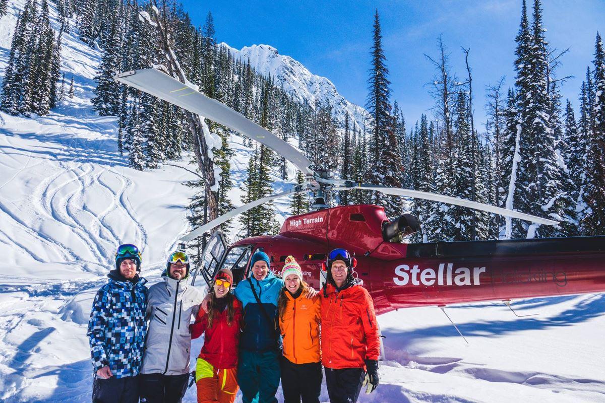 Viaggi Sport Heliski in Canada Sci Snowboard Freeride Backcountry