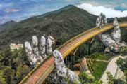 Viaggio in Vietnam Tour Easy Golden Bridge Ponte Da Nang Visita