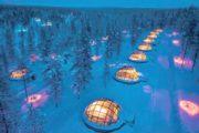 viaggio finlandia lapponia igloo hotel aurora boreale