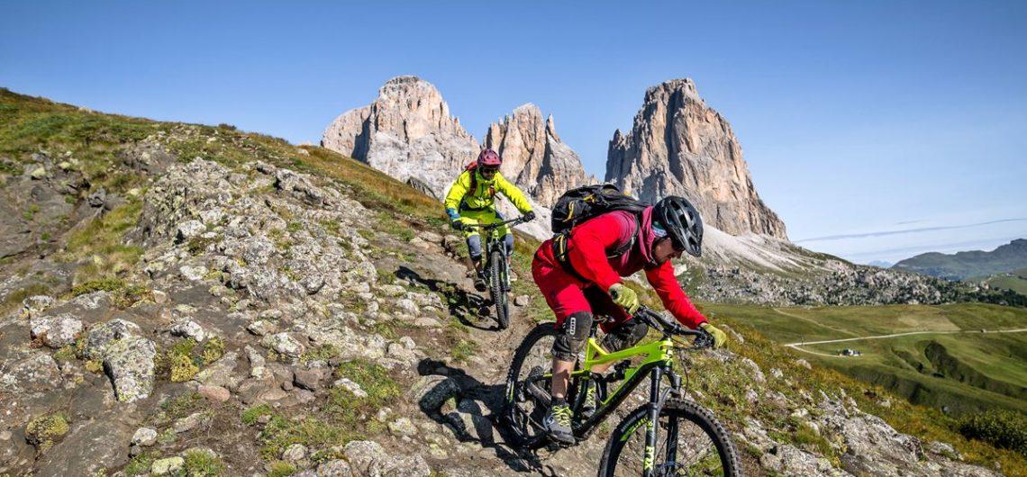 Mountain Bike Dolomiti Mtb Enduro Ebike Sella Ronda Tour Copyright Archivio Immagini Apt Val Di Fassa Photo Andrea Costa