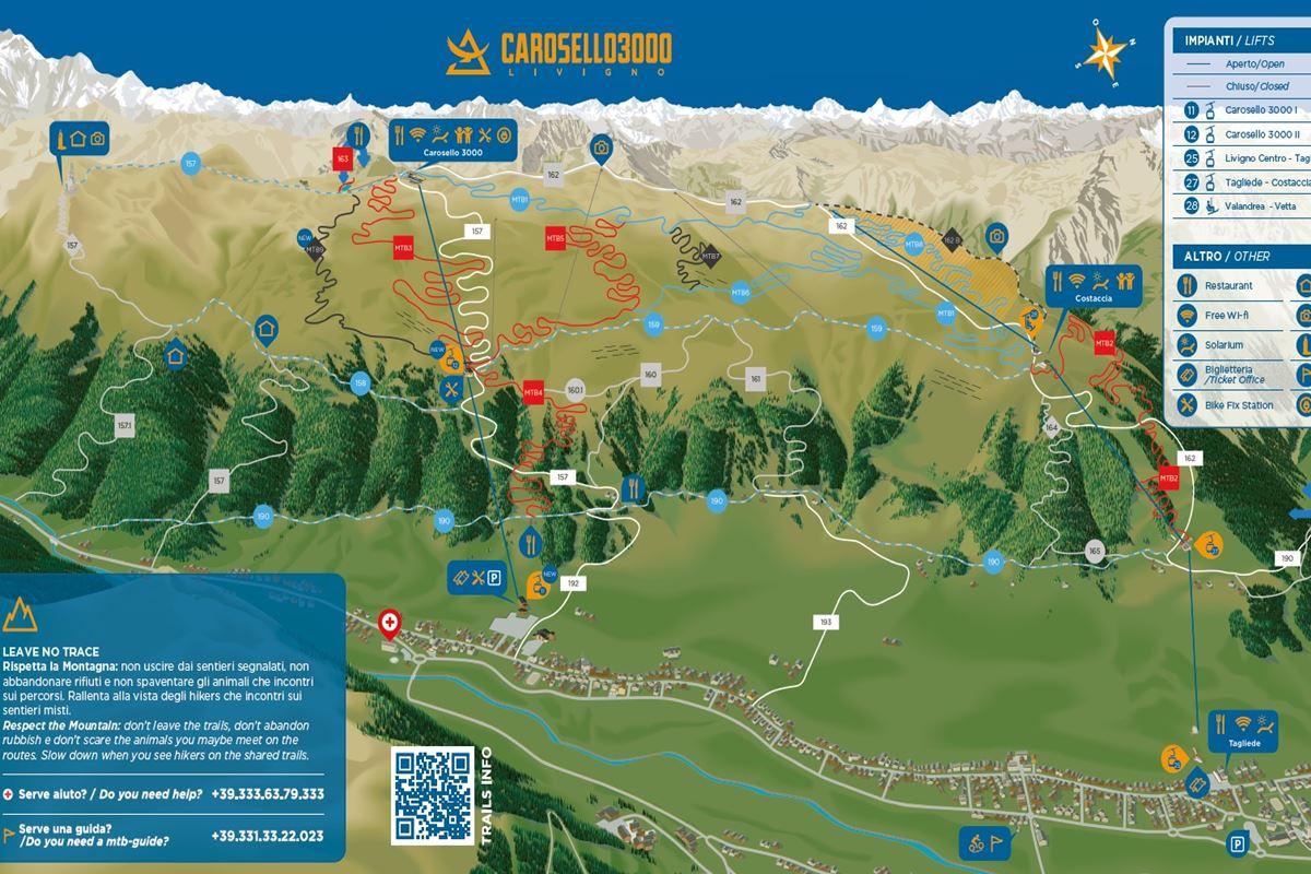 mtb livigno carosello trail map