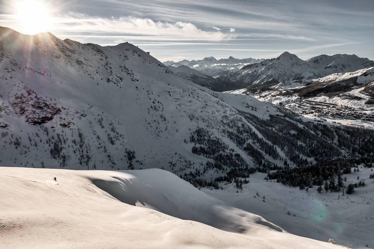 sestriere sci snowboard freeride powder fuoripista