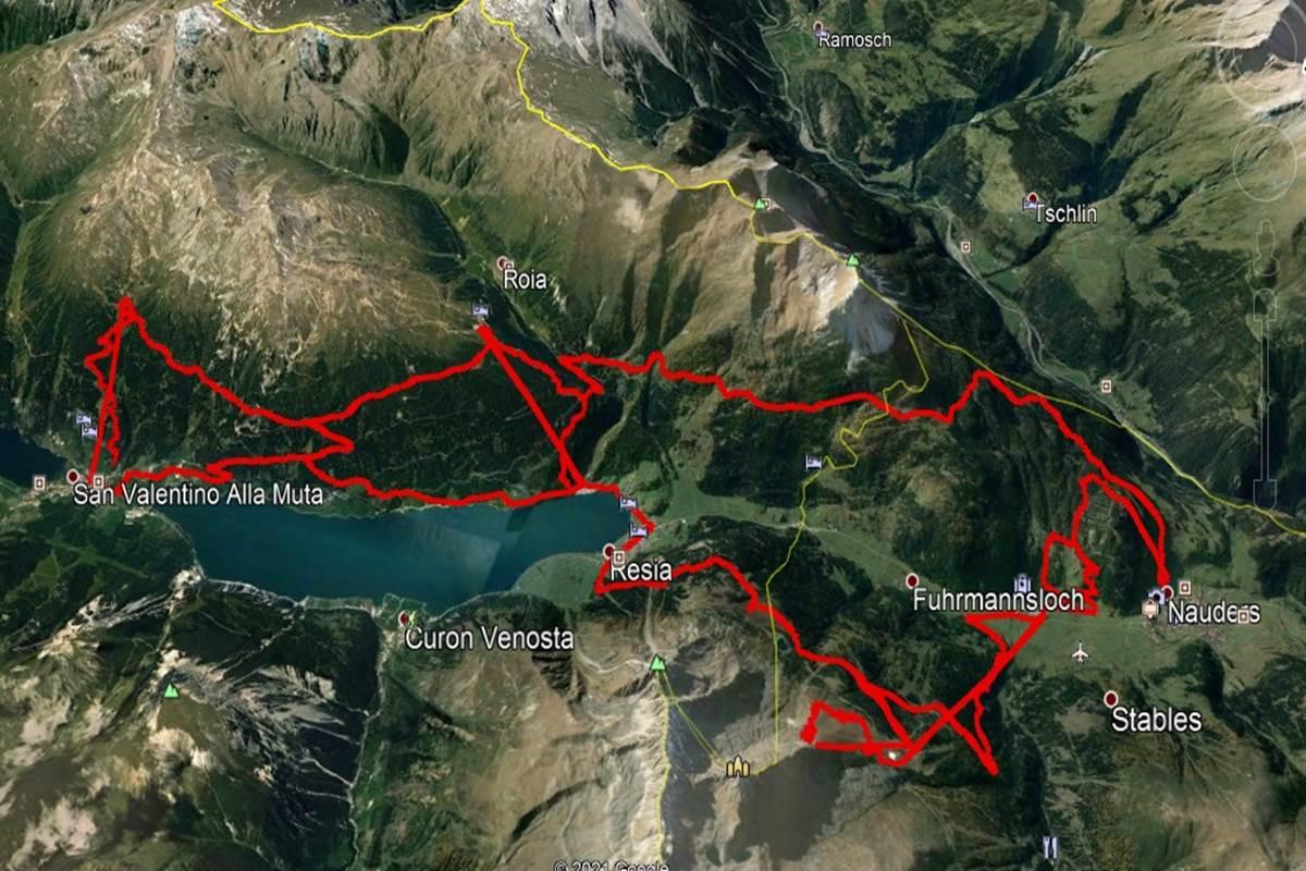 dreilander tour alto adige mappa